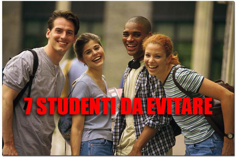 Sette studenti da evitare all'università