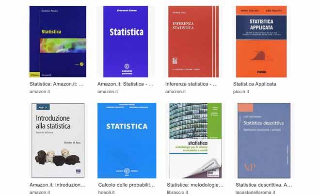 esame di statistica libri