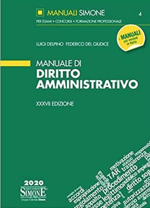 Manuale di amministrativo. di Luigi Delpino e Federico Del Giudice